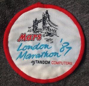 london marathon badge 1987
